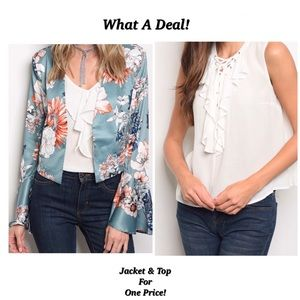 🚨 2 FOR 1 SUPER DEAL! Jacket & Top